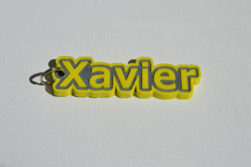 First Additional product image for - Xavier Single & Dual Color 3D Printable Keychain-Badge-Stamp