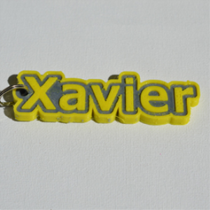 Xavier Single & Dual Color 3D Printable Keychain-Badge-Stamp | Other Files | Patterns and Templates