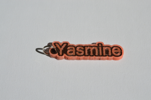 First Additional product image for - Yasmine Single & Dual Color 3D Printable Keychain-Badge-Stamp