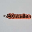 Yasmine Single & Dual Color 3D Printable Keychain-Badge-Stamp | Other Files | Everything Else