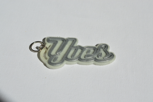 First Additional product image for - Yves Single & Dual Color 3D Printable Keychain-Badge-Stamp