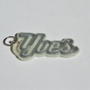 yves single & dual color 3d printable keychain-badge-stamp