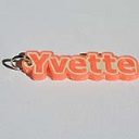 Yvette Single & Dual Color 3D Printable Keychain-Badge-Stamp | Other Files | Everything Else