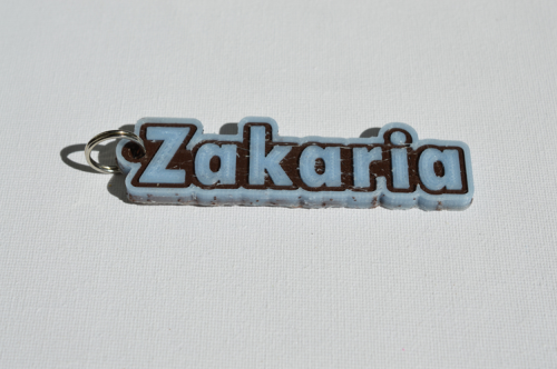 First Additional product image for - Zakaria Single & Dual Color 3D Printable Keychain-Badge-Stamp