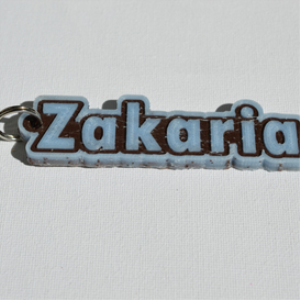 Zakaria Single & Dual Color 3D Printable Keychain-Badge-Stamp | Documents and Forms | Templates