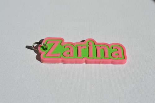 First Additional product image for - Zarina Single & Dual Color 3D Printable Keychain-Badge-Stamp