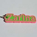 Zarina Single & Dual Color 3D Printable Keychain-Badge-Stamp | Other Files | Everything Else