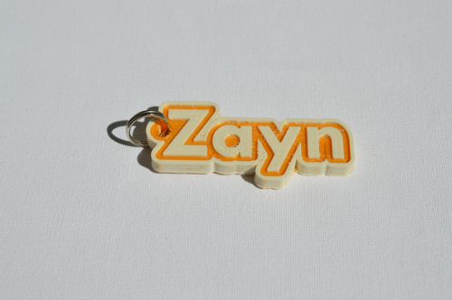 First Additional product image for - Zayn Single & Dual Color 3D Printable Keychain-Badge-Stamp