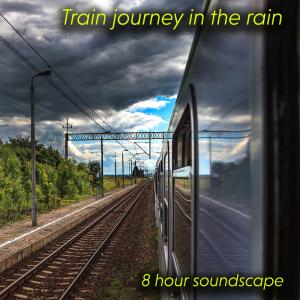 train journey in the rain