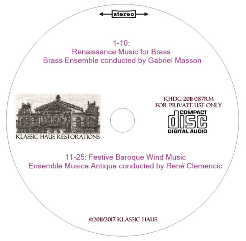 Second Additional product image for - Renaissance Brass and Baroque Wind Music - Masson/Clemencic