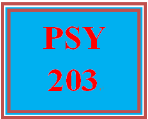 PSY 203 Entire Course | eBooks | Education