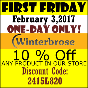 FIRST FRIDAY Discount for Feb-2017 | Other Files | Everything Else