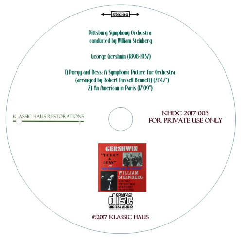 Third Additional product image for - Music of Gershwin - Pittsburgh Symphony Orchestra/William Steinberg