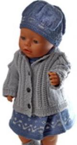 DollKnittingPatterns 0164D EVELYN - Jurk, broekje, vestje, muts en sokjes-(Nederlands)   Crafting   Knitting   Other
