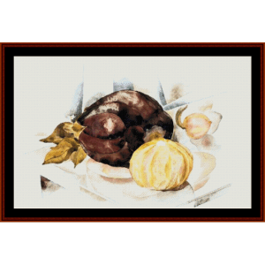 Eggplant, 1923 - Demuth cross stitch pattern by Cross Stitch Collectibles | Crafting | Cross-Stitch | Wall Hangings