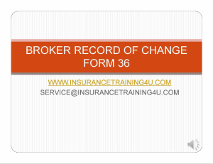broker of record commercial form 36