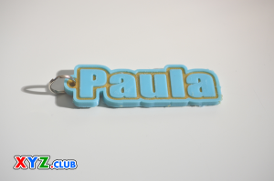 Paula Single & Dual Color 3D Printable Keychain-Badge-Stamp | Other Files | Everything Else