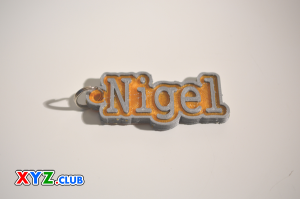 Nigel Single & Dual Color 3D Printable Keychain-Badge-Stamp | Other Files | Patterns and Templates