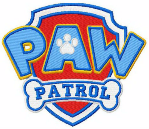 First Additional product image for - Paw Patrol logo machine embroidery design