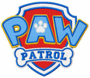 paw patrol logo machine embroidery design