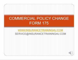 Process Commercial Policy Changes | Movies and Videos | Training