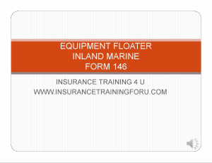 Floater/Inland Marine | Movies and Videos | Training