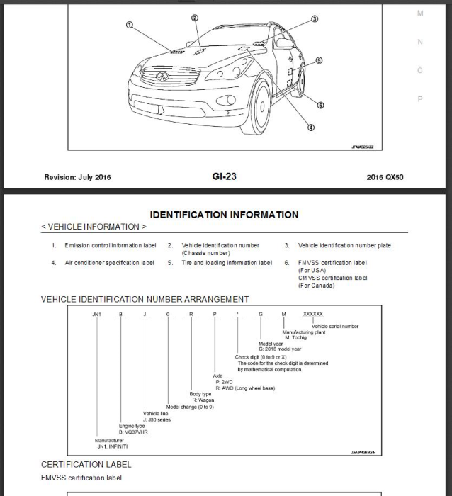 First Additional product image for - Infiniti QX50 J50 2016 Service Repair Manual & Wiring diagram