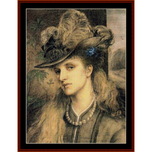 Fashionable Lady - Emma Sandys cross stitch pattern by Cross Stitch Collectibles | Crafting | Cross-Stitch | Wall Hangings