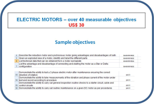 Competence objectives - Topic: Electric Motors | Other Files | Everything Else