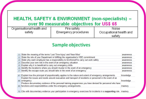 Competence objectives - Topic: Health Safety Environment for non-specialists | Other Files | Everything Else