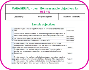 competence objectives for managers