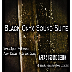black onyx sound suite - piano, rhodes, synth and drums