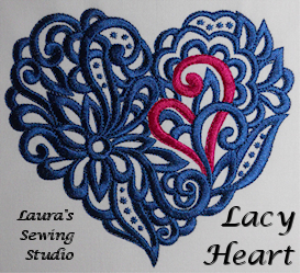 laura's lacy hearts art