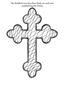 budded cross coloring page