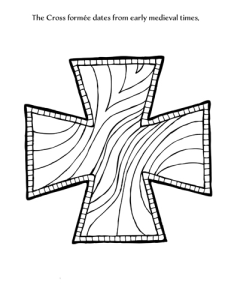 cross formee coloring page