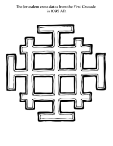 jerusalem cross coloring page