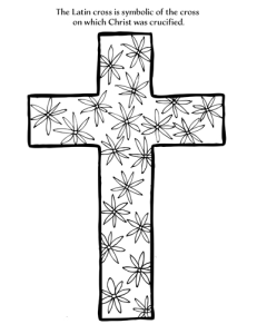 latin cross coloring page