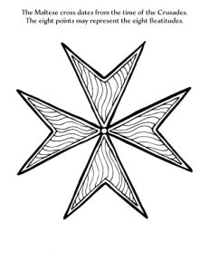 maltese cross coloring page