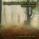 Creepy forest walk in the rain soundscape | Music | Ambient