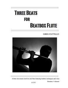 three beats for beatbox flute