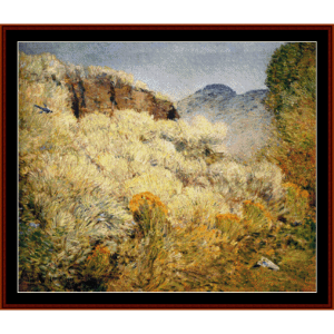 harney desert ii - childe-hassam cross stitch pattern by cross stitch collectibles