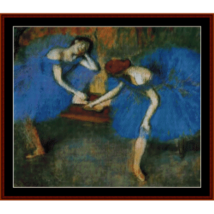 Two Dancers in Blue - Degas cross stitch pattern by Cross Stitch Collectibles | Crafting | Cross-Stitch | Other