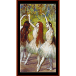 Dancers in Green - Degas cross stitch pattern by Cross Stitch Collectibles | Crafting | Cross-Stitch | Wall Hangings