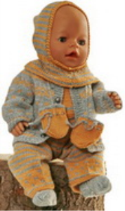 DollKnittingPatterns Modell 0165D GABRIELA - Jacke, Mütze, Anzug, Socken und Handschuhe-(Deutsch) | Crafting | Knitting | Other