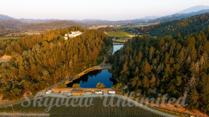 napa valley vineyard aerial