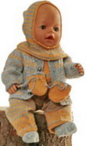 DollKnittingPatterns 0165D GABRIELA - Vestje, Muts, Pakje, Sokjes, Wantjes-(Nederlands) | Crafting | Knitting | Other