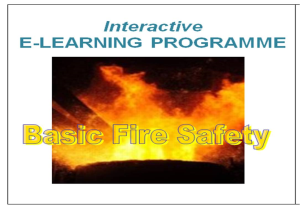 e-learning course basic fire safety
