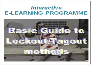 e-learning course Lockout Tagout | Other Files | Everything Else