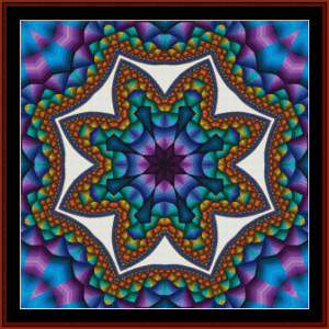 Fractal 600 cross stitch pattern by Cross Stitch Collectibles | Crafting | Cross-Stitch | Wall Hangings