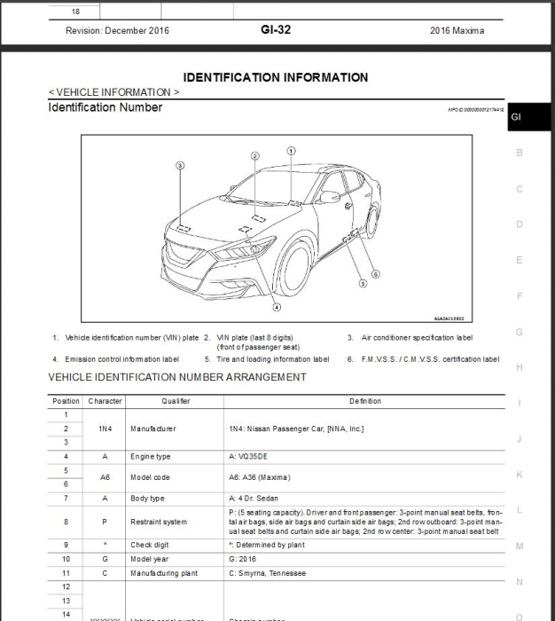 First Additional product image for - 2016  Nissan Maxima A36 Service Repair Manual & Wiring diagram